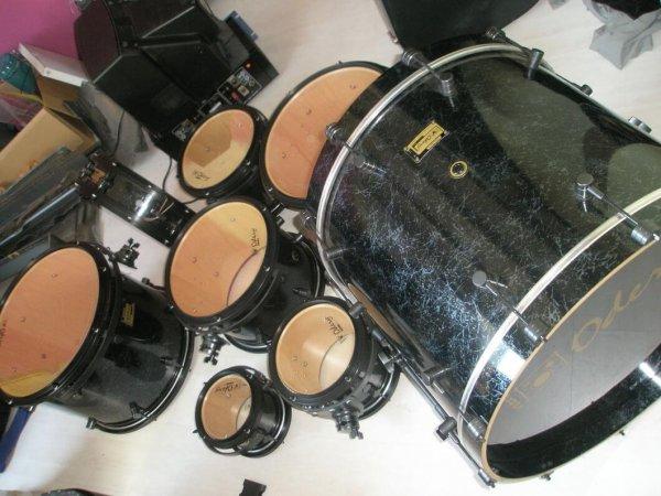 Odery Custom 8-delig zwart parelmoer set
