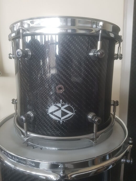 "For sale rare Rocket Shells USA Custom carbon drumkit - 10"" tom"