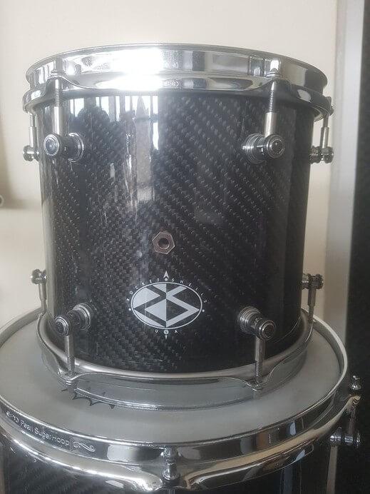 "For sale rare Rocket Shells USA Custom carbon drumkit - 10"" tom"