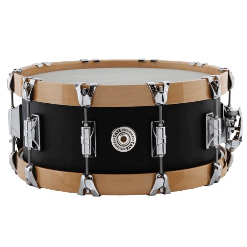 Taye Aluminium 14x6 snare with Natural Wood Hoops Skillz Drum Academy