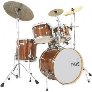 Taye Studio Maple 5-delig 5 piece drumkit in Amber Gold Skillz Drumm Academy