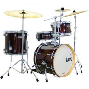 Taye Studio Maple 4-delig 4 piece jazz drumkit in Dark Walnut Skillz Drumm Academy