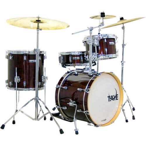 Taye Studio Maple 4-delig 4 piece jazz drumkit in Dark Walnut Skillz Drumm Academy