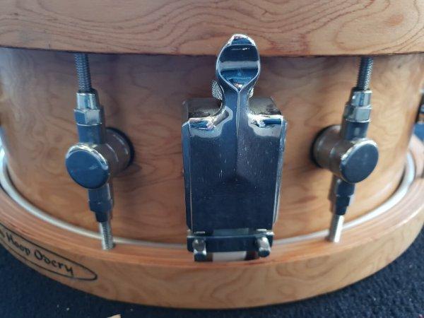 Foto van Skillz Drum Academy biedt aan Odery Studio Masters Woodhoop snare 14 x 5 snaren mechaniek