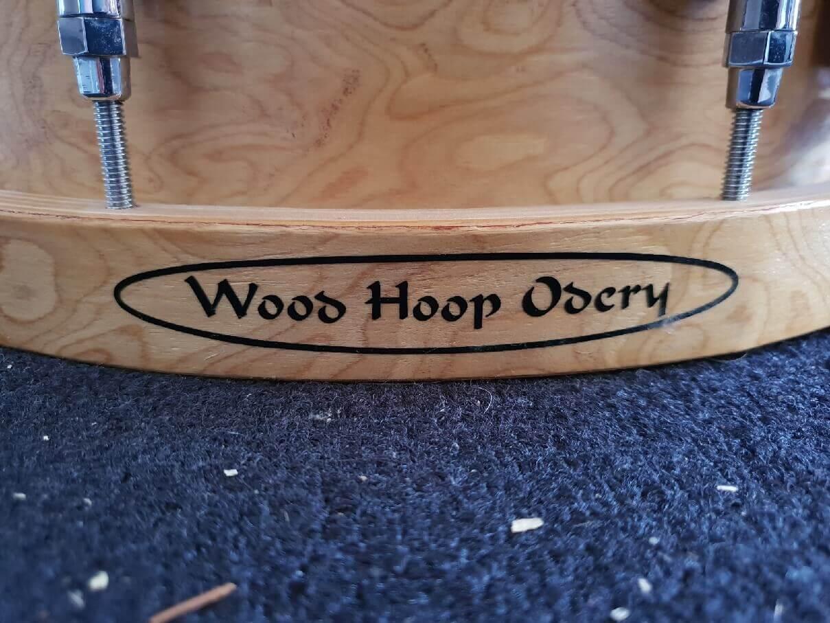 Foto van Skillz Drum Academy biedt aan Odery Studio Masters Woodhoop snare 14 x 5 wood hoop logo