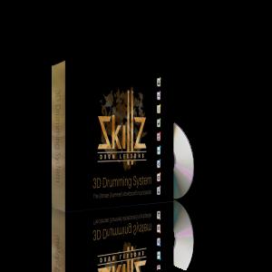 Dit is een 3D beeld van de Gratis Versie van het 3D Drumming System Level 1 door Skillz Drum Lessons