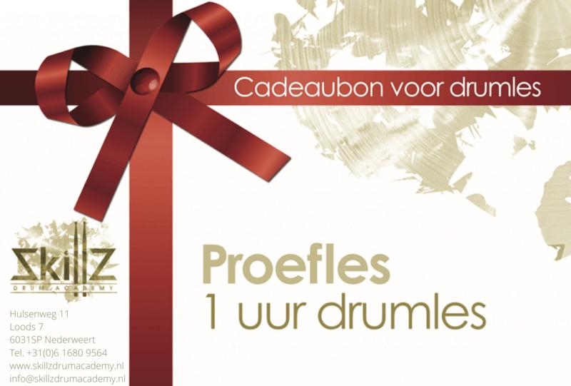De cadeaubon van drumschool Skillz Drum Academy